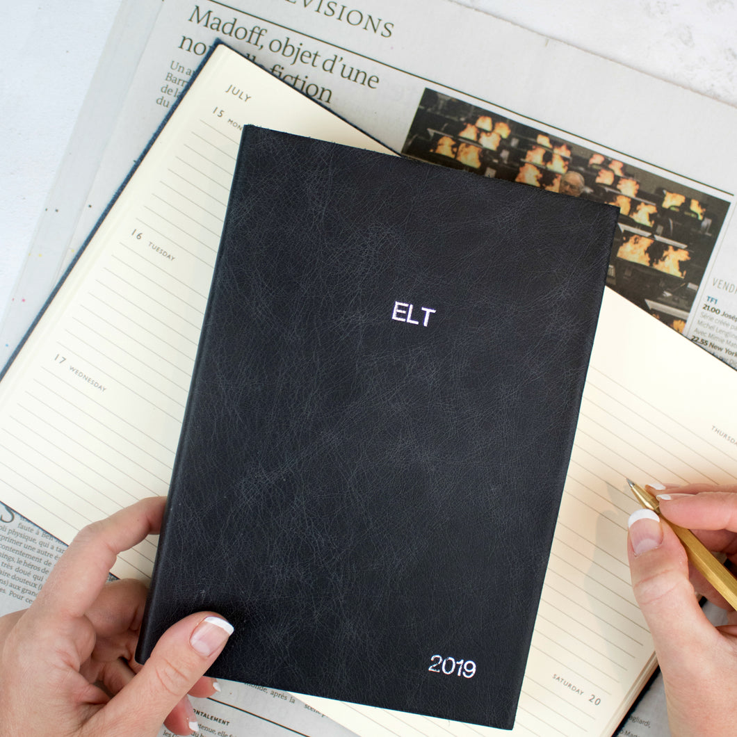 2019 personalised diary - leather personalised diary - gorgeous leather diary with bespoke personalisation Diary / Journal- Hope House Press