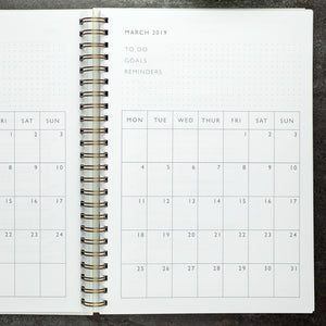 2020 diary, personalised with weekly, daily and monthly diary paper - the perfect organiser diary - Hope House Press
