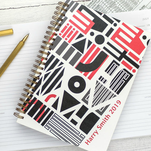 2020 diary - A5 diary - weekly diary or daily diary with personalisation, graphic design - Hope House Press
