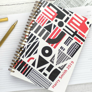 A5 diary - weekly diary or daily diary with personalisation, graphic design - Hope House Press