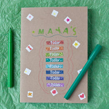 Journal Planner for children and teenagers - Kraft covered Journal Planner for personalisation with sticker starter kit - Hope House Press