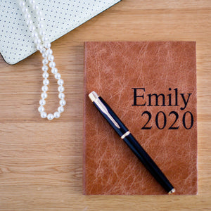 2020 leather diary - personalised 2020 diary - poster print style diary Diary / Journal- Hope House Press