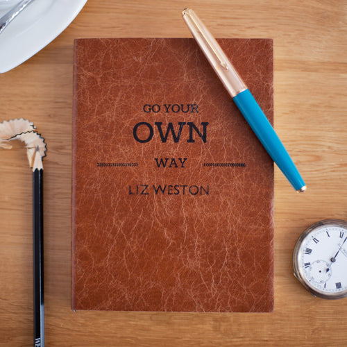 Go your own way - personalised notebook Notebooks / Journals- Hope House Press