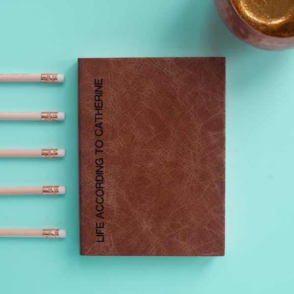 Sideline Notebook - personalised leather notebook / journal by Hope House Press
