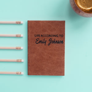 2018 diary - personalised diary - life according to with script font Diary / Journal- Hope House Press