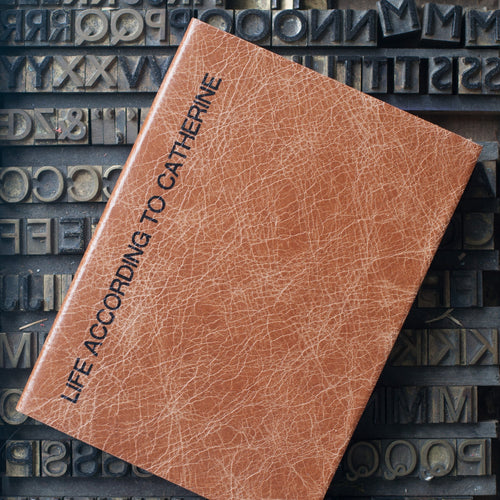 2020 personalised diary, leather diary with sideline styling Diary / Journal- Hope House Press