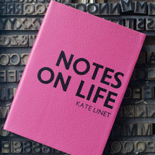 Notes on Life notebook - personalised leather notebook / journal by Hope House Press Notebooks / Journals- Hope House Press