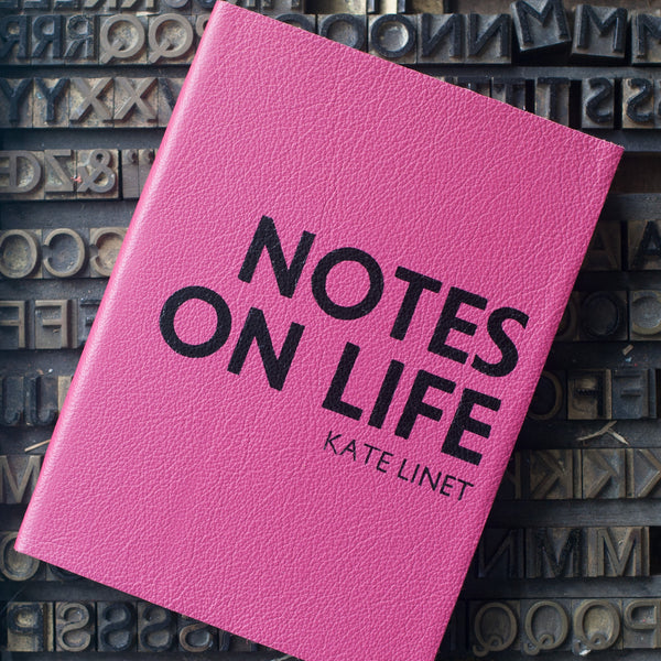 Notes on Life Diary - personalised leather diary from Hope House Press