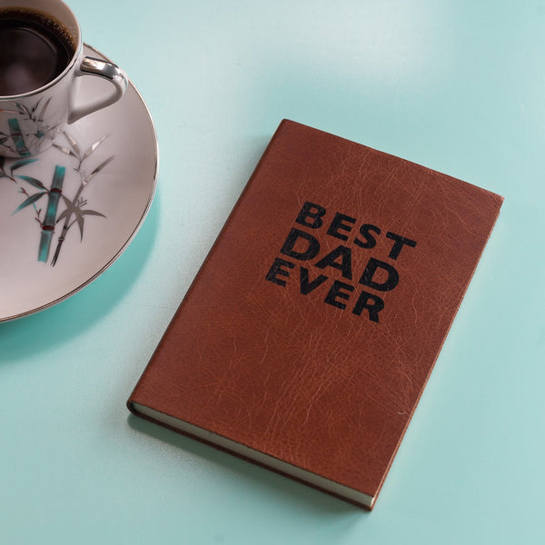 'Best Dad Ever' Leather Bound Notebook by Hope House Press