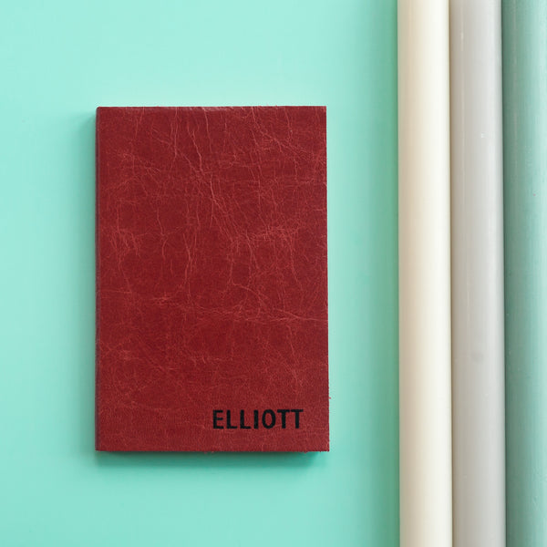 Small Capitals Notebook - personalised leather notebook / journal by Hope House Press