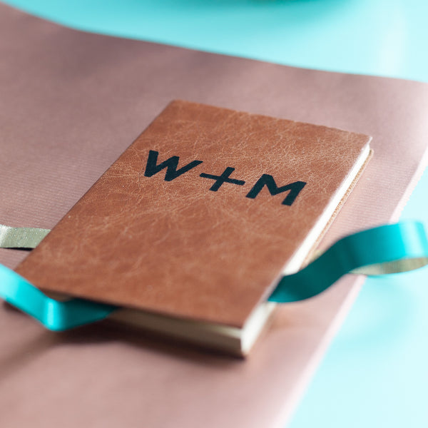Initials Diary for Two - personalised leather diary / journal by Hope House Press