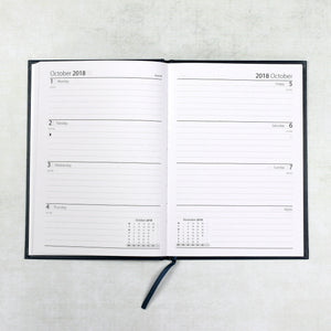 2018 | 2019  Academic diary - mid year diary - personalised diary with single initial styling and leather cover Academic Diary - Mid Year Diary- Hope House Press