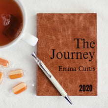 2020 diary - The Journey - personalised leather diary - dated journal for 2020 Diary / Journal- Hope House Press