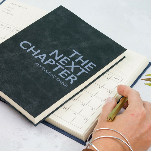 Personalised diary - the next chapter diary - perfect for new beginnings