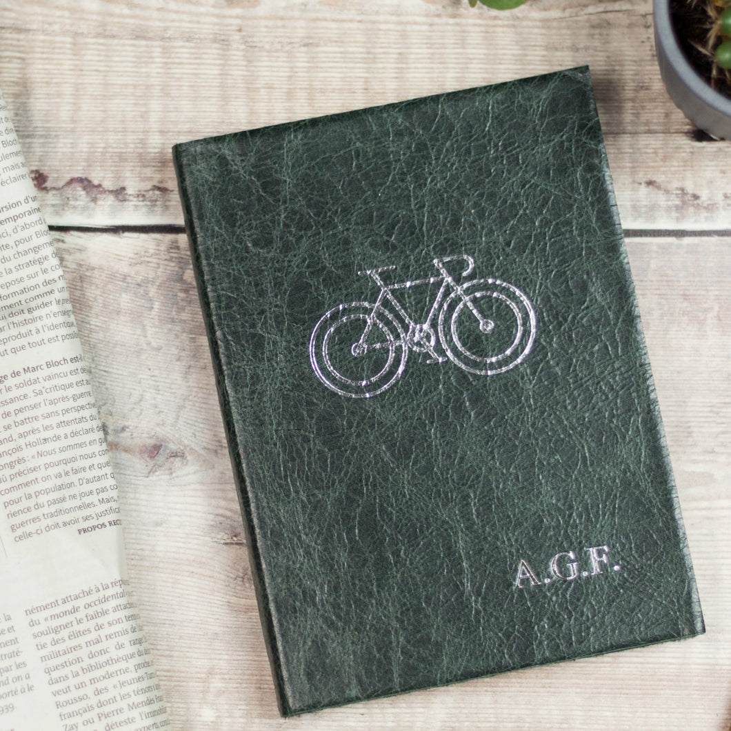 MAMIL gift - a perfect leather notebook for someone who loves to cycle Notebooks / Journals- Hope House Press