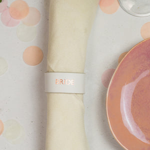 personalised wedding napkin holder, drink marker and place setting - Hope House Press