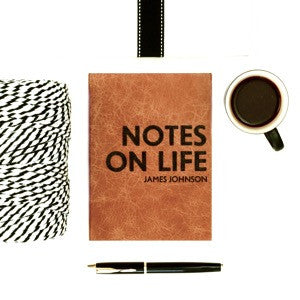Notes on Life notebook - personalised leather notebook / journal by Hope House Press