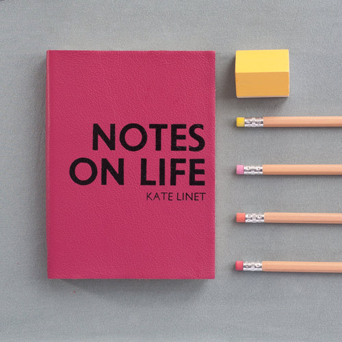 Personalised mid year diary, academic diary - made in leather with notes on life styling and unique personalisation Academic Diary - Mid Year Diary- Hope House Press