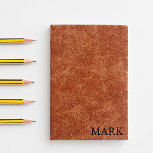 Mid year, academic diary in luxury leather with small capitals personalisation Academic Diary - Mid Year Diary- Hope House Press