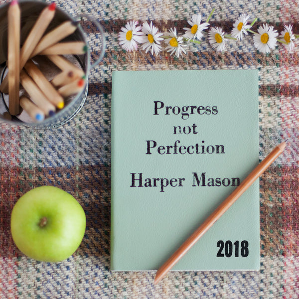 2018 DIARY - PROGRESS NOT PERFECTION WITH VINTAGE STYLING Diary / Journal- Hope House Press