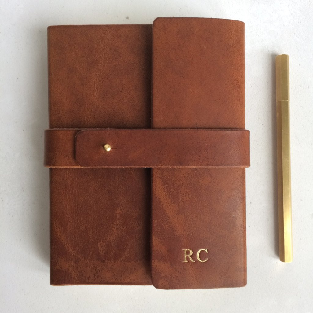 heavyweight leather journal with personalisation Notebooks / Journals- Hope House Press