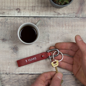 personalised leather keyring - perfect for father's day - Hope House Press