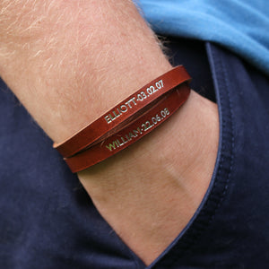 Personalised bracelet. Made with leather, for women. - Hope House Press