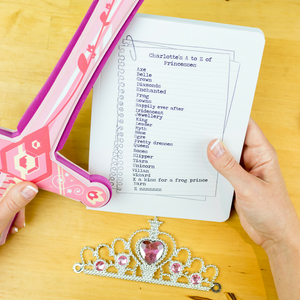 Princess notebook - a personalised notebook on the A to Z of all things princess - Hope House Press