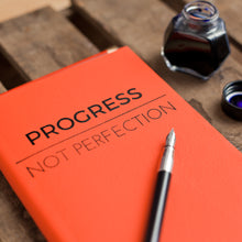 Personalised Notebook / Journal - Progress Not Perfection - luxury leather notebook by Hope House Press Diary / Journal- Hope House Press