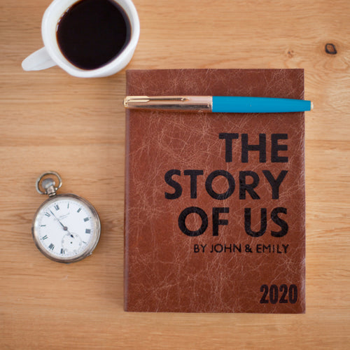 2020 diary - personalised 2020 diary - the story of us wedding gift - couples diary Diary / Journal- Hope House Press