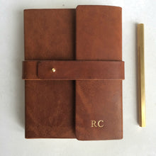 2020 diary - wraparound leather diary with personalisation Diary / Journal- Hope House Press