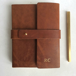 2019 diary - wraparound leather diary with personalisation Diary / Journal- Hope House Press