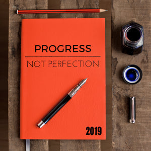 2019 diary - progress not perfection diary - luxury leather diary Diary / Journal- Hope House Press
