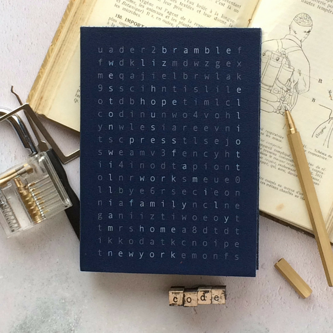 Wordsearch notebook - secret code notebook Notebooks / Journals- Hope House Press