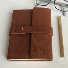 wraparound leather diary with personalisation - Hope House Press