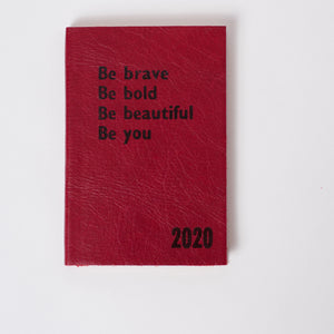 2020 diary - Personalised Diary: Be Bold, Be Brave - leather diary Diary / Journal- Hope House Press