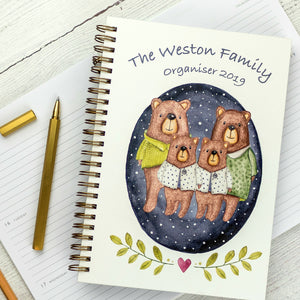 2019 diary, A5 weekly diary planner - the chaos controller with personalisation - and bears! - Hope House Press