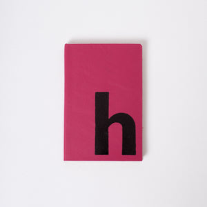 Personalised notebook / journal: Single Initial - personalised, hand finished, bespoke printed, leather notebook Notebooks / Journals- Hope House Press
