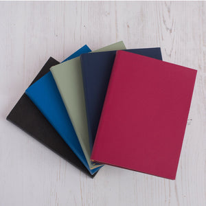 Personalised leather notebook with poster print styling Notebooks / Journals- Hope House Press