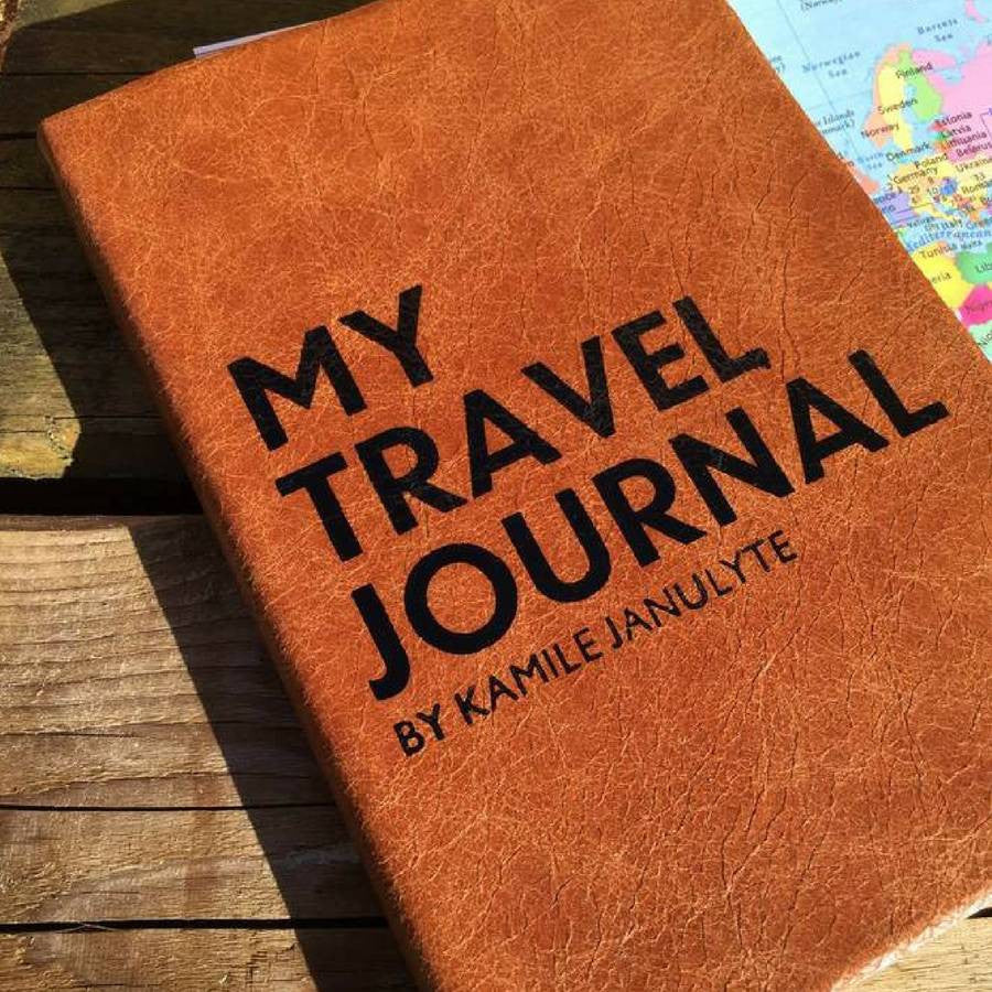 Personalised travel journal, made in leather Notebooks / Journals- Hope House Press