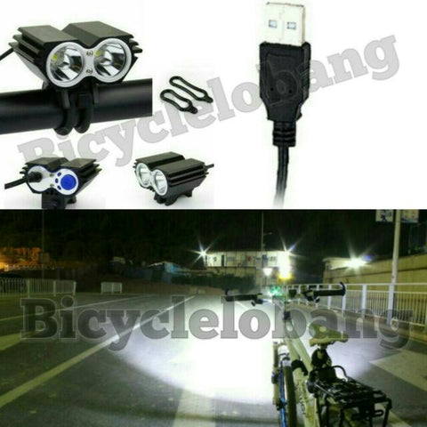 2-Cree Light USB 5000 Lumens Bright