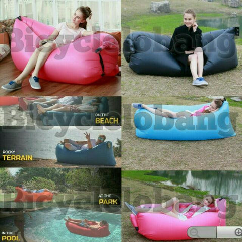 Fashion Inflatable Sleeping Bed Sofa Air Bag Bed For Camping Hiking Interior Fishing Indoor Outdoor