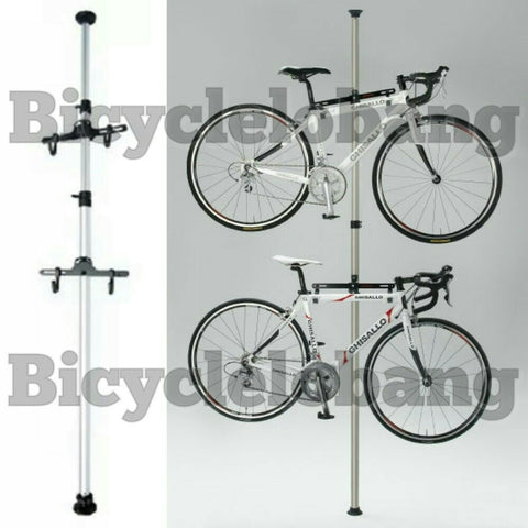 Dual Bicycle Tower Rack Holder Carrier