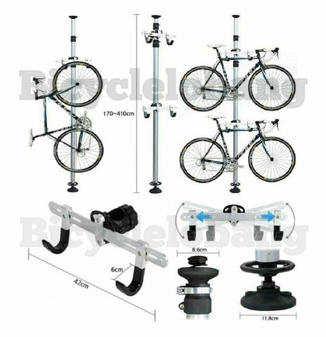 Dual Bicycle Tower Rack Holder Hanger