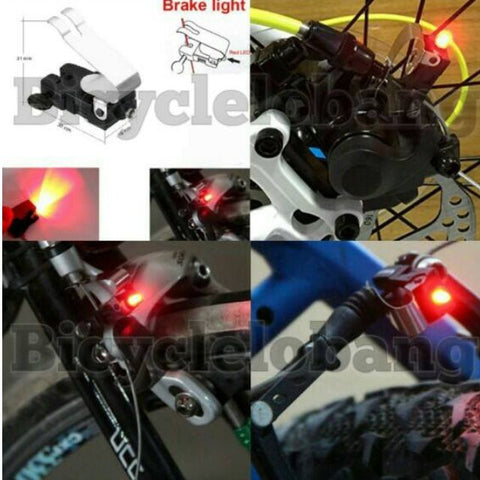 Rotor Disk/V-Brake Stopping Rear Front LED Nano Warning Tail Light Indicator