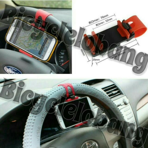 Car Steering Wheel Mount Holder Rubber Band For iPhone iPod GPS Mobile Phone/Smartphone Holders