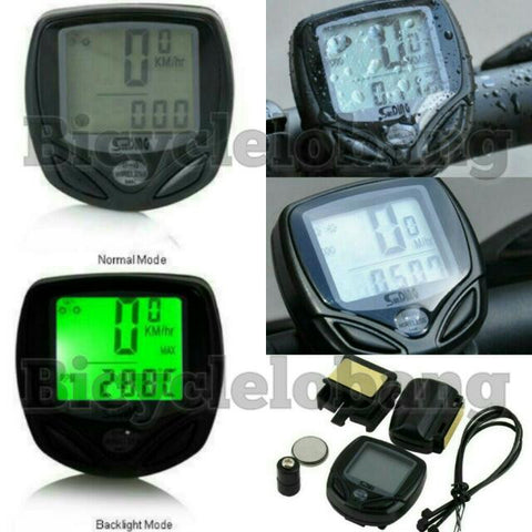 Wireless with Green Backlight Speedometer