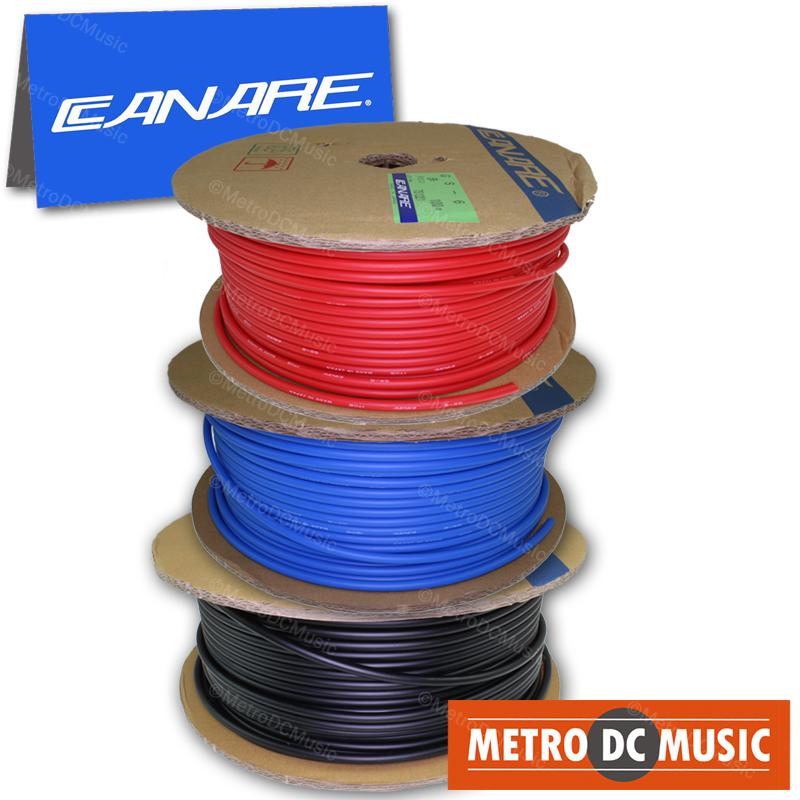 CANARE BULK WIRE FOR SOLDER Canare GS6 BLACK BLUE RED Guitar Instrument Shielded Cable Bulk Feet 18AWG OFC
