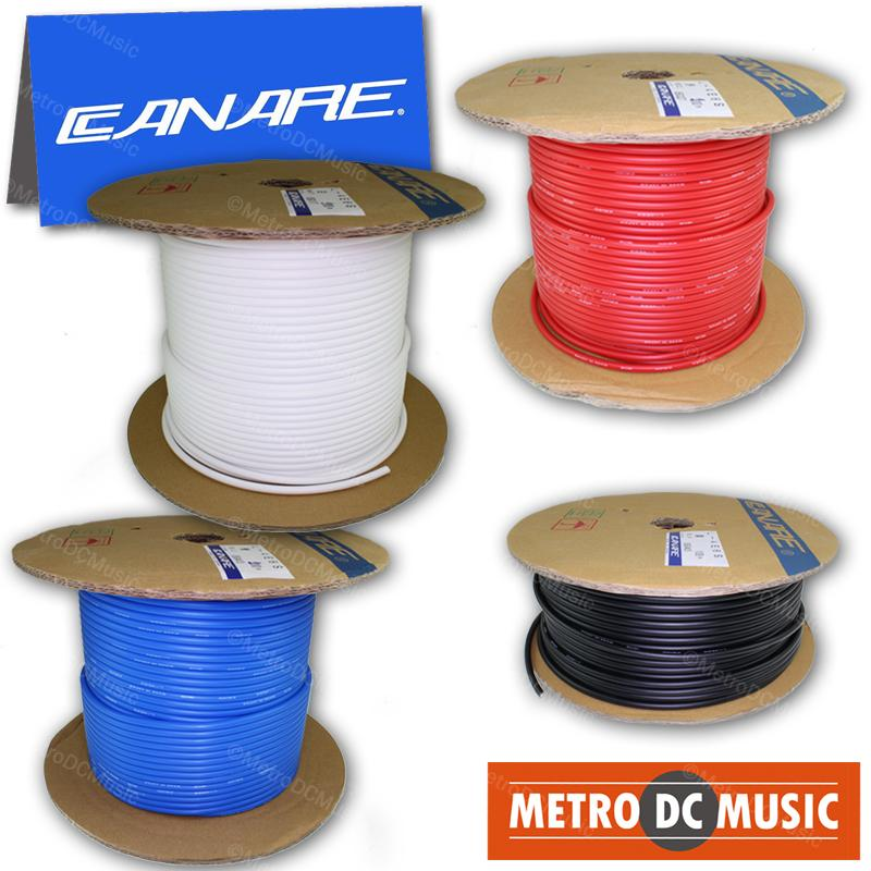 CANARE BULK WIRE FOR SOLDER Canare L-4E6S Star Quad Microphone Shielded Cable Black Blue Red White Bulk Feet