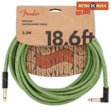 Fender Original 18.6 ft Daphne Blue Straight Guitar Instrument Cable Cord 1//4/""